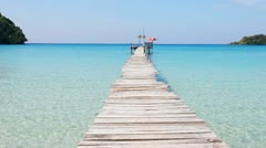 Pier in the sea Stock Footage