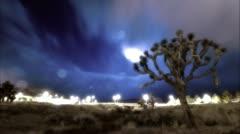 Intense rain storm Joshua Tree Bridge Stock Footage
