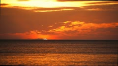 Tropical sunset - stock footage