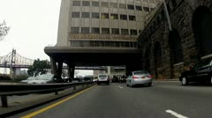 FDR Southbound - Queensboro Bridge and Midtown Tunnel Stock Footage