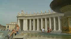 Stock Video Footage of Tourists hang around St Peters fountain