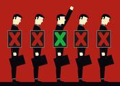 Chosen Businessman Stock Illustration