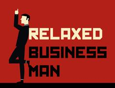 Relaxed Businessman - stock illustration