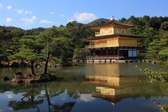 Stock Photo of Golden Pavilion Kinkakuji in JAPAN