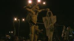 Ogoh-Ogoh for Ngrupuk parade 22-03-2012 Nyepi, Sanur, Bali Stock Footage