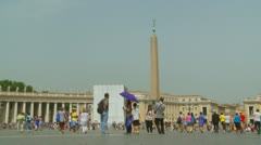 Slow motion tourists at St Peters Square Stock Footage