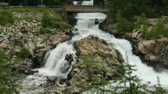 Waterfall Morteratsch - stock footage