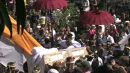 Stock Video Footage of Balinese Hindu royal cremation ceremony (Ngaben) in Ubud, Bali July 28th 2012