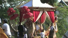 Balinese Hindu royal cremation ceremony (Ngaben) in Ubud, Bali July 28th 2012 Stock Footage