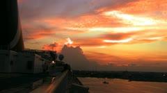 Sunset cruise Stock Footage