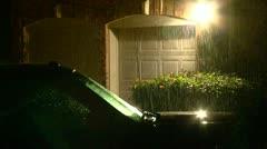 Rain (Night) Stock Footage