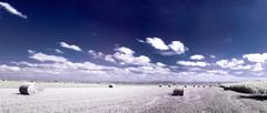 infrared countryside landscape - stock photo