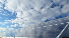 Solar photovoltaics panels Stock Footage