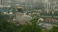 Drum tower in Hangzhou, China Stock Footage