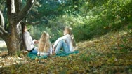 Mother With Children Spending Time Together Stock Footage