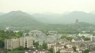 Stock Video Footage of The West Lake and City of Hangzhou, China
