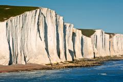 Stock Photo of sven sisters cliffs south downs england landscape