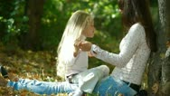 Happy Mother and Daughter Outdoors Stock Footage