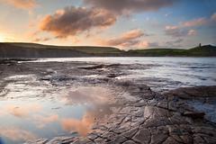 Stock Photo of kimmeridge bay sunrise landscape, dorset england