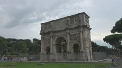 Italy Rome ,Arch of Constantine. Stock Footage