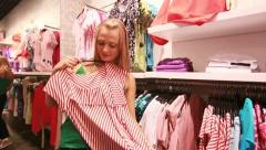 Striped blouse Stock Footage
