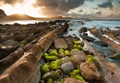 sunrise ocean landscape mupe bay jurassic coast england - stock photo