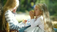 Little Sisters Outdoors Stock Footage