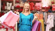 Mall defile Stock Footage