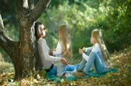Family Spending Time Together Outdoors Stock Footage
