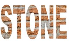 Stone font Stock Photos