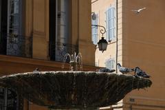 Fountain in aix en provence Stock Photos