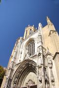 cathedral saint-sauveur d'aix in aix-en-provence - stock photo