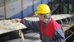 Industrial Worker - Quality Control Stock Footage