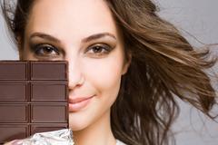 Chocolate seduction Stock Photos