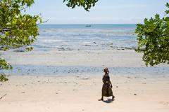 beach in pangani, tanzania - stock photo