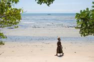 Stock Photo of beach in pangani, tanzania