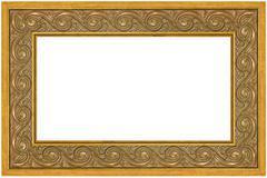 Greek meander golden frame Stock Photos