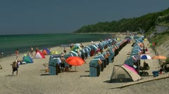 Summer at the Beach - Baltic Sea, Northern Germany Stock Footage