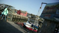 rockport motif #1with painting dutch - stock footage