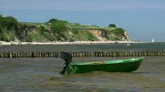 Fishing Boat on the Baltic Sea in Boltenhagen - Northern Germany Stock Footage