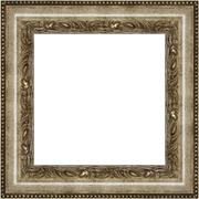 silver square frame - stock photo