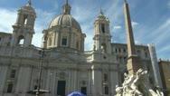 Piazza Navona, Italy Rome Stock Footage
