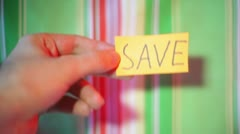 Save sign Stock Footage