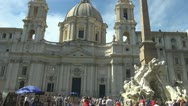 Piazza Navona, Italy Rome Stock Footage