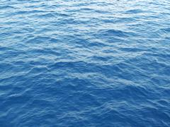blue sea water - stock photo