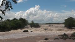 Laos siphandon li phi waterfalls Stock Footage