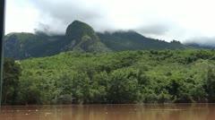 Laos nong khiaw luang prabang mekong cruise 2 Stock Footage