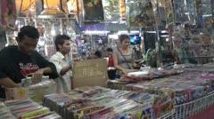 Thailand Bangkok Talat Noi Stock Footage