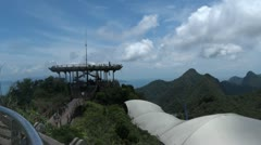 malaysia langkawi view point - stock footage