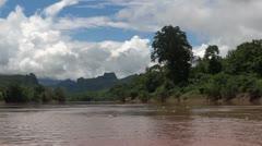 Laos nong khiaw luang prabang mekong cruise Stock Footage